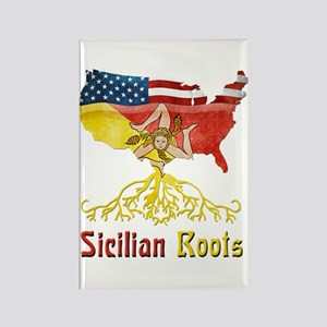 American Sicilian Roots Rectangle Magnet