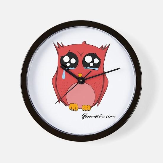 Sad Owl Wall Clock