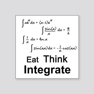 """Eat. Think. Integrate. Square Sticker 3"""" x 3"""""""
