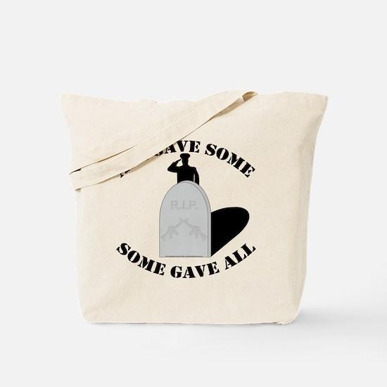 Remember the Fallen. Tote Bag