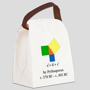 Pythagorean Theorem Canvas Lunch Bag