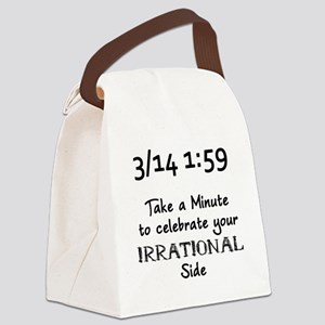 Pi Day Irrational Canvas Lunch Bag