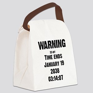 Unix End of Time Canvas Lunch Bag