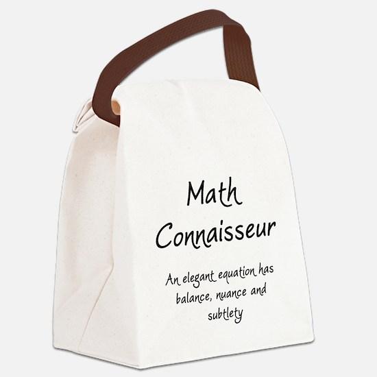 Math Connaisseur Canvas Lunch Bag
