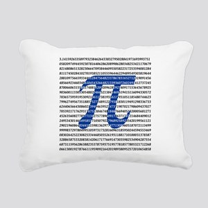 1000 Digits of Pi Rectangular Canvas Pillow