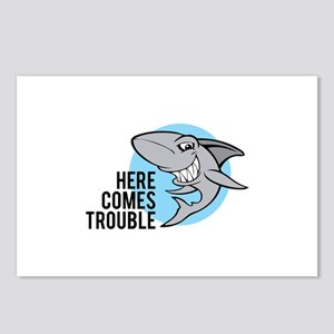 Shark- Here comes trouble Postcards (Package of 8)