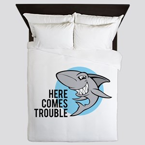 Shark- Here comes trouble Queen Duvet