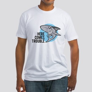 Shark- Here comes trouble Fitted T-Shirt