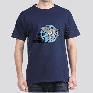 Shark- Here comes trouble Dark T-Shirt