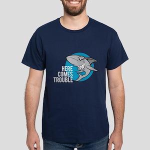 Shark- Here comes trouble Dark T-Shirt