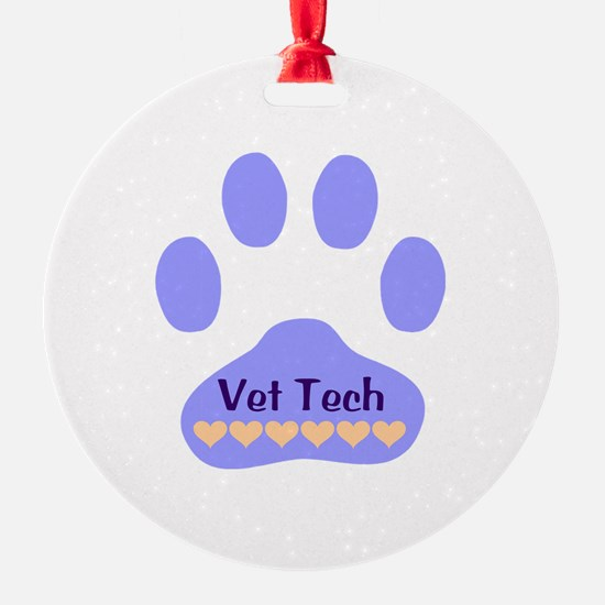 Vet Tech Paw 22 Ornament