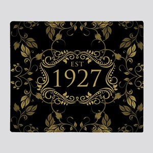 Established 1927 Throw Blanket