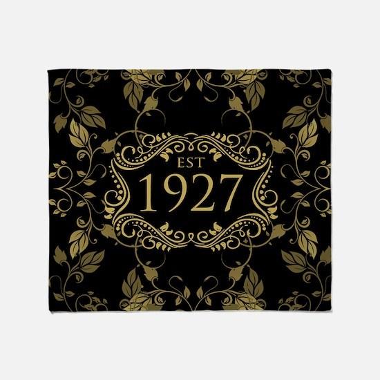 Established 1927 Throw Blanket