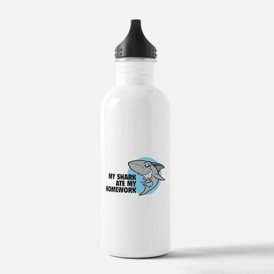 My shark ate my homework Water Bottle