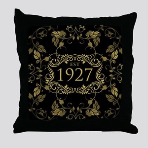 Established 1927 Throw Pillow
