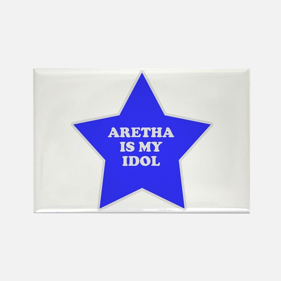Aretha Is My Idol Rectangle Magnet