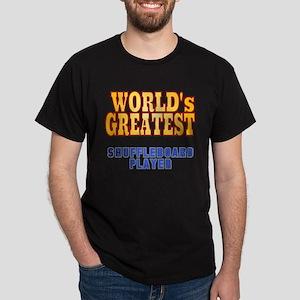 World's Greatest Shuffleboard Player Dark T-Shirt