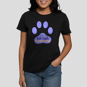 Vet Tech Paw 22 Women's Dark T-Shirt