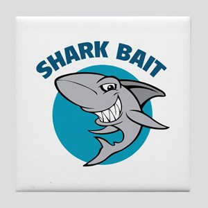 Shark bait Tile Coaster