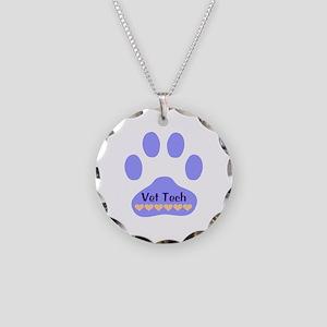 Vet Tech Paw 22 Necklace Circle Charm
