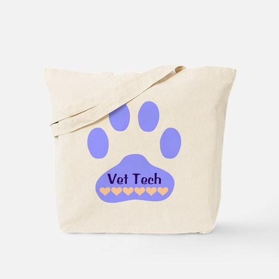 Vet Tech Paw 22 Tote Bag