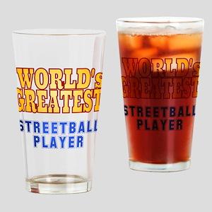 World's Greatest Streetball Player Drinking Glass