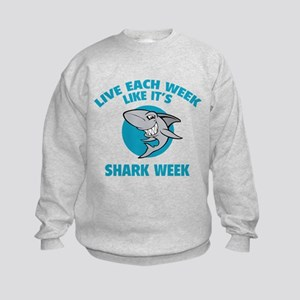 Live each week like it's shark week Kids Sweatshir
