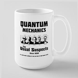 Quantum Mechanics-The Usual Suspects Large Mug