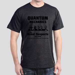Quantum Mechanics-The Usual Suspects Dark T-Shirt