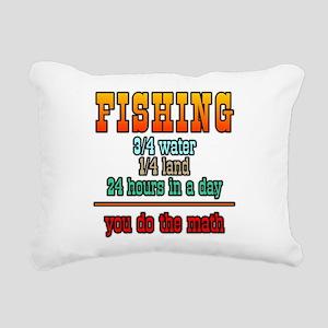 Fishing...You Do The Math Rectangular Canvas Pillo