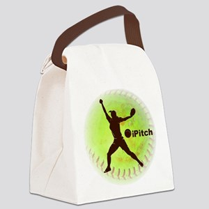 iPitch Fastpitch Softball Canvas Lunch Bag