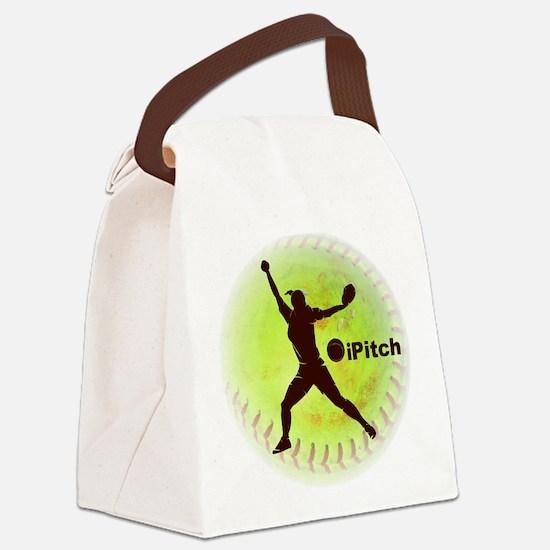 iPitch Fastpitch Softball Canvas Lunch Bag
