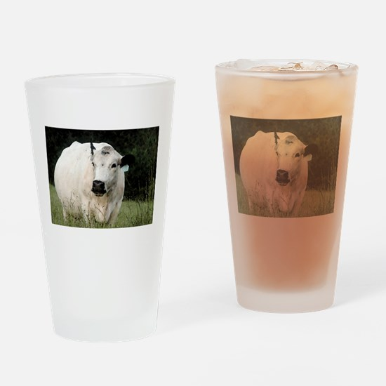 British White Cow - Color #2 Drinking Glass