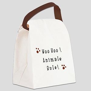 Woo Hoo! Animals Rule! Canvas Lunch Bag