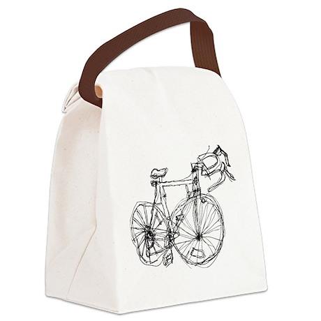 bike vector Canvas Lunch Bag