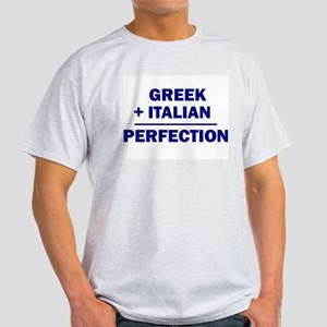 Italian + Greek Ash Grey T-Shirt
