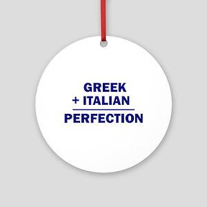 Italian + Greek Ornament (Round)