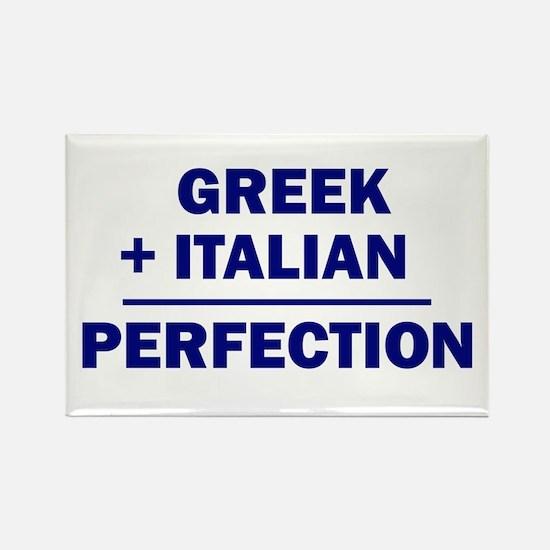 Italian + Greek Rectangle Magnet