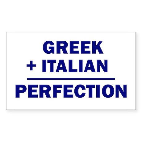 Italian + Greek Rectangle Sticker