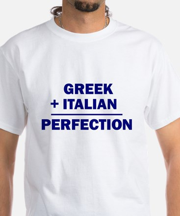 Italian + Greek White T-Shirt