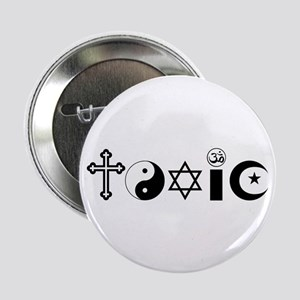 """Religion is Toxic 2.25"""" Button"""