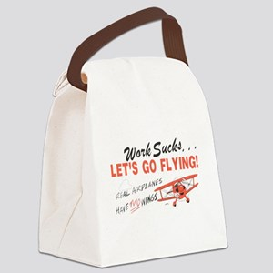 ... lets go FLYING! Canvas Lunch Bag