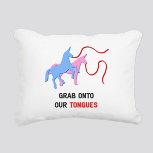 Tongues Rectangular Canvas Pillow