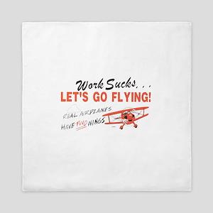 ... lets go FLYING! Queen Duvet