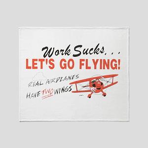 ... lets go FLYING! Throw Blanket
