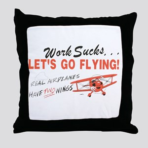 ... lets go FLYING! Throw Pillow
