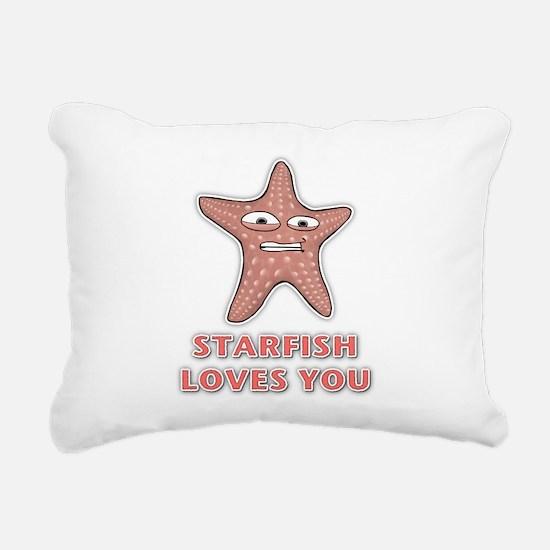 Starfish Rectangular Canvas Pillow