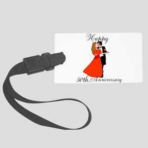 Custom Anniversary Large Luggage Tag