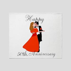 Custom Anniversary Throw Blanket