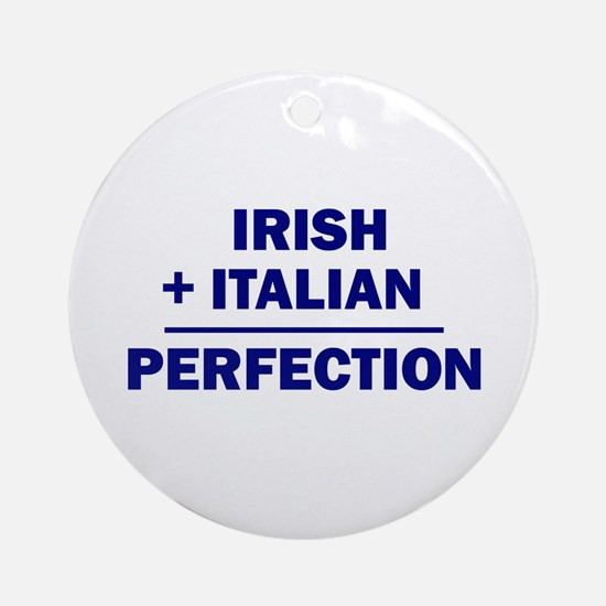 Italian + Irish Ornament (Round)